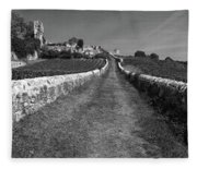 Vineyard In Saint-emilion Fleece Blanket