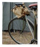 Vintage Bicycle World War II  Fleece Blanket