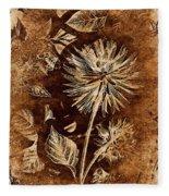 Vintage Blossom Fleece Blanket