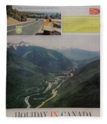 Vintage Canada Advertisement Fleece Blanket
