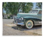 Vintage Car Chevy Fleetmaster Fleece Blanket