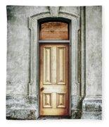 Vintage Door Fleece Blanket