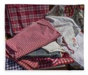 Vintage French Textiles Fleece Blanket
