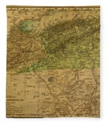Vintage Map Of North Africa Including Morocco Algeria And Tunisia 1901 Fleece Blanket