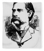 Vintage Newspaper Wyatt Earp Portrait 1896 - T-shirt Fleece Blanket
