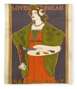 Vintage Poster - Louis Rhead Fleece Blanket