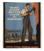 Vintage Poster - Make Every Minute Count Fleece Blanket