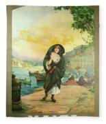 Vintage Poster - Malta Fleece Blanket