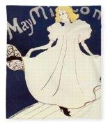 Vintage Poster - May Milton Fleece Blanket