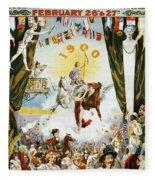 Vintage Poster - Mobile Mardi Gras Fleece Blanket