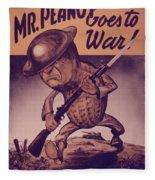 Vintage Poster - Mr. Peanut Goes To War Fleece Blanket