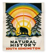 Vintage Poster - South Kensington Fleece Blanket