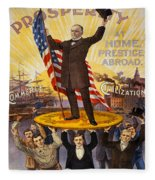 Vintage Poster - William Mckinley Fleece Blanket