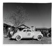 Vintage Race Car Gold King Mine Ghost Town Fleece Blanket
