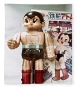 Vintage Robot Astro Boy Fleece Blanket