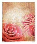 Vintage Roses Fleece Blanket