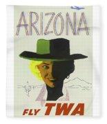 Vintage Travel Poster Arizona 3 Fleece Blanket