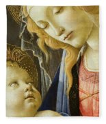 Virgin And Child Renaissance Catholic Art Fleece Blanket