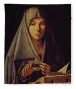 Virgin Annunciate By Messina Fleece Blanket