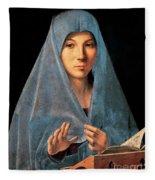 Virgin Of Annunciation Painting By Antonello Di Antonio Dit Antonello Da Messina Fleece Blanket