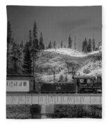 Virginia Truckee Railroad Fleece Blanket