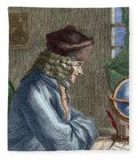 Voltaire In His Office In Vernay Fleece Blanket