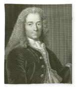 Voltaire Portrait, Engraving Fleece Blanket