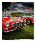 Volvo P1800 Classic Car Fleece Blanket