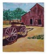 Wagons And Barns Fleece Blanket