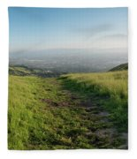 Walking Downhill Large Trail With Silicon Valley At The End Fleece Blanket