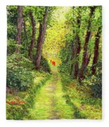 Walking Meditation Fleece Blanket