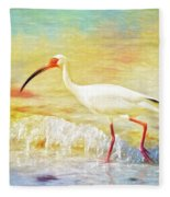 Walking The Waves Of Sanibel Fleece Blanket