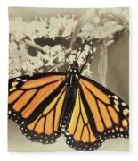 Wandering Migrant Butterfly Fleece Blanket