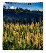 Washington - Gifford Pinchot National Forest Fleece Blanket