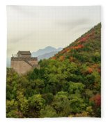 Watch Tower, Great Wall Of China Fleece Blanket