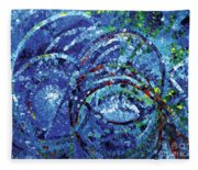Water Circles Fleece Blanket