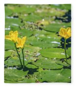 Water Garden Fleece Blanket