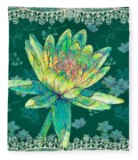 Water Lily And Lace Fleece Blanket