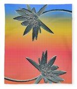 Water Lily Duo Fleece Blanket