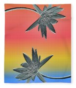 Water Lily Duo Two Fleece Blanket