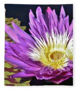 Water Lily On The Pond Fleece Blanket