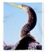 Water Turkey, Anhinga, Animal Portrait Fleece Blanket