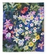 Watercolor - Alpine Wildflower Design Fleece Blanket