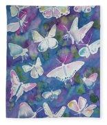 Watercolor - Butterfly Design Fleece Blanket