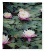 Waterlily Impressions Fleece Blanket