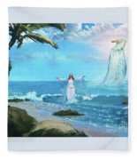 Waves Of Mercy Fleece Blanket