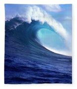 Waves Splashing In The Sea, Maui Fleece Blanket
