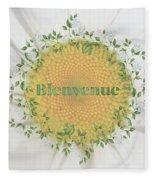 Welcome - Bienvenue Fleece Blanket
