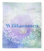 Welcome - Willkommen Fleece Blanket