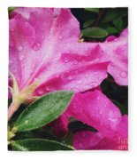 Wet Blooms Fleece Blanket